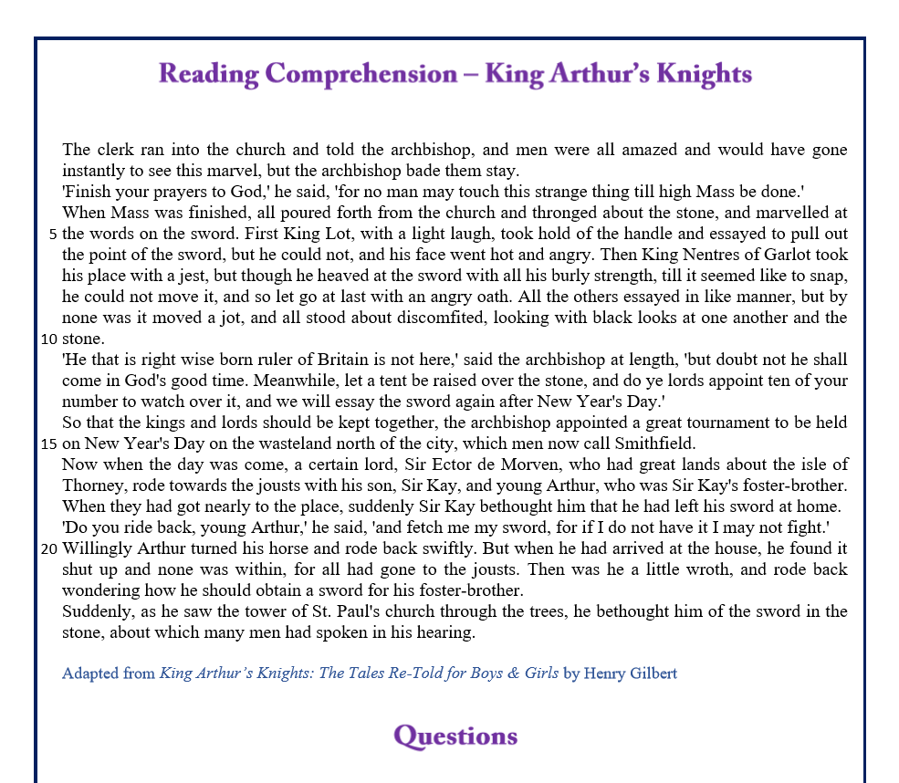 KIng Arthurs Knights