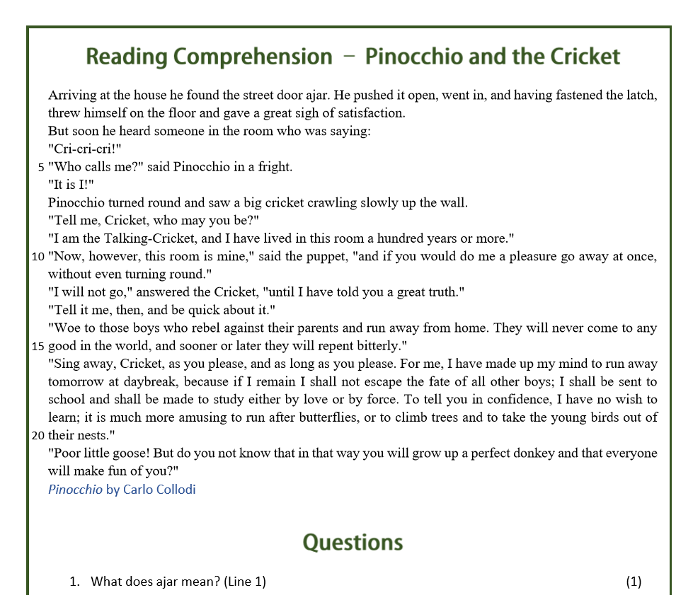 Pinocchio and the Cricket